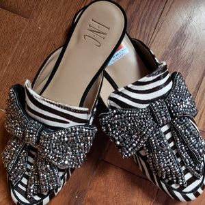 INC zebra loafers with bow. New. Size 9